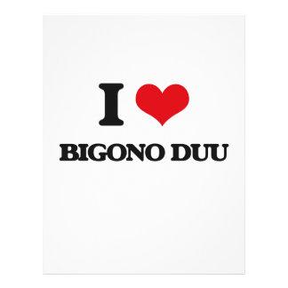 Eu amo BIGONO DUU Panfleto Coloridos