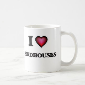 Eu amo Birdhouses Caneca De Café