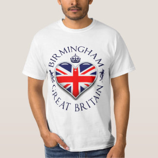 Eu amo Birmingham Camiseta