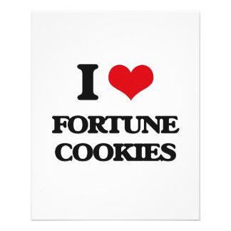 eu AMO biscoitos de fortuna Panfletos Personalizados