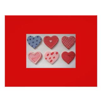 Eu amo biscoitos dos namorados do coração panfletos