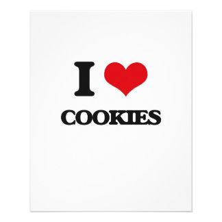 Eu amo biscoitos panfleto personalizado
