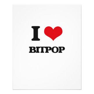 Eu amo BITPOP Panfletos Personalizado