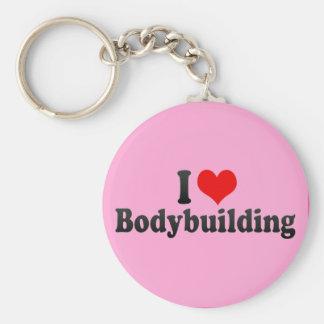 Eu amo Bodybuilding Chaveiros