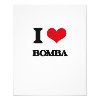 Eu amo BOMBA Modelo De Panfletos