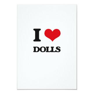 Eu amo bonecas convite personalizados