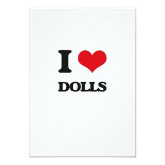 Eu amo bonecas convite 12.7 x 17.78cm