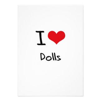Eu amo bonecas convite