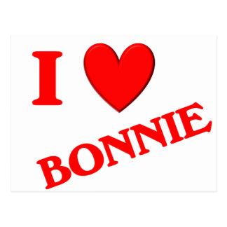Eu amo Bonnie Cartao Postal