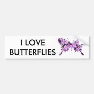 Eu amo borboletas adesivo