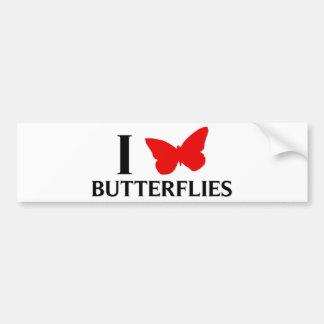 Eu amo borboletas adesivos