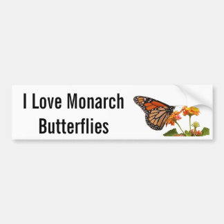 Eu amo borboletas de monarca adesivo para carro