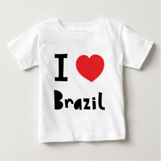 Eu amo Brasil Camiseta Para Bebê