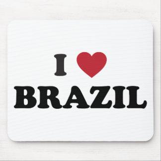 Eu amo Brasil Mouse Pads