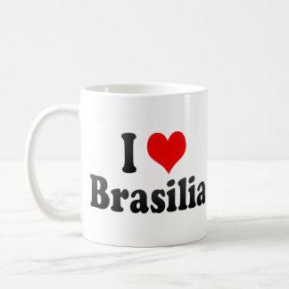 Eu amo Brasília Brasil Canecas