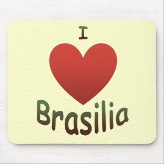 Eu amo Brasília Mouse Pad