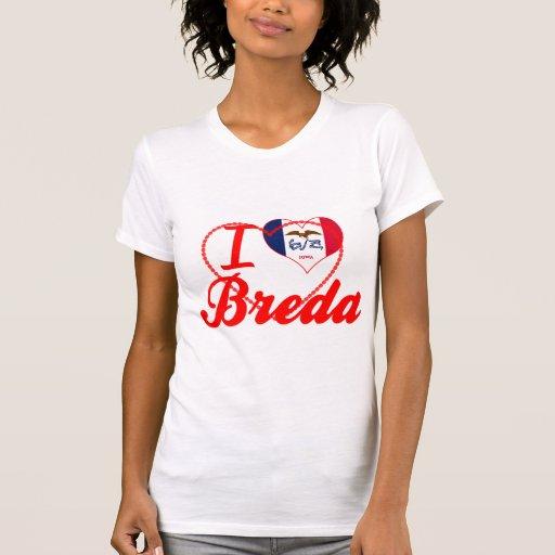 Eu amo Breda, Iowa Tshirt
