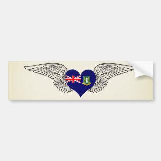 Eu amo British Virgin Islands - asas Adesivo