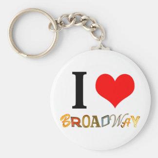 Eu amo Broadway Chaveiros