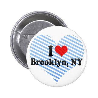 Eu amo Brooklyn NY Botons