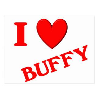 Eu amo Buffy Cartões Postais