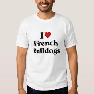 Eu amo buldogues franceses tshirt