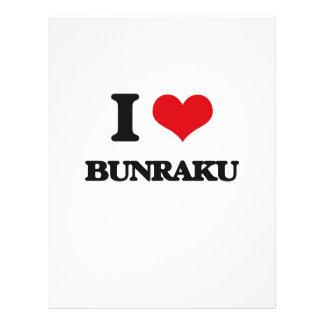 Eu amo BUNRAKU Panfleto