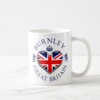 Eu amo Burnley Caneca De Café