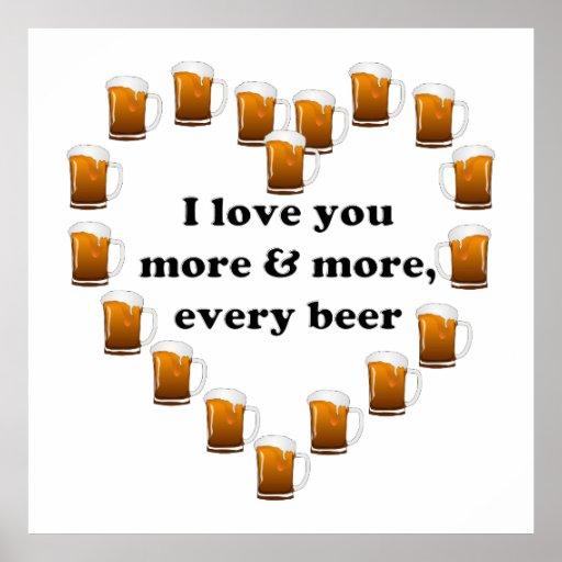 Eu amo cada vez mais, cada cerveja posters