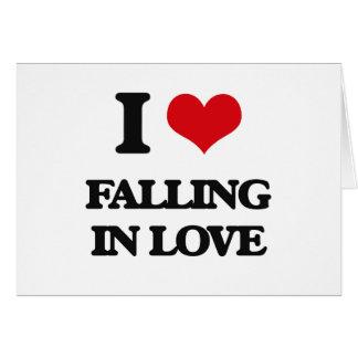 Eu amo cair no amor cartão