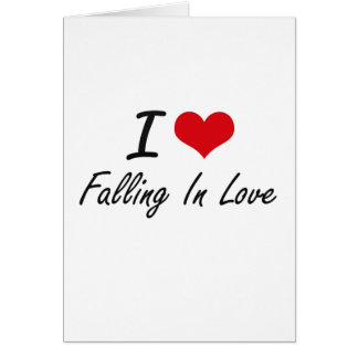 Eu amo cair no amor cartão comemorativo