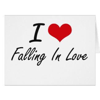 Eu amo cair no amor cartão comemorativo grande
