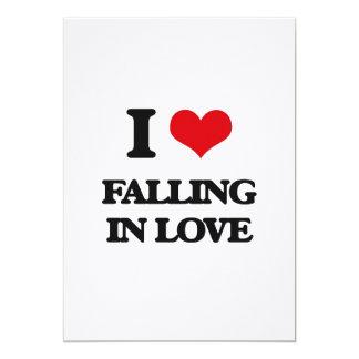 Eu amo cair no amor convite 12.7 x 17.78cm