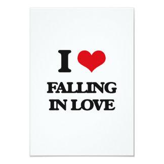 Eu amo cair no amor convite 8.89 x 12.7cm