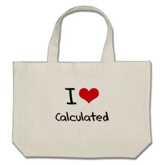 Eu amo calculado bolsas
