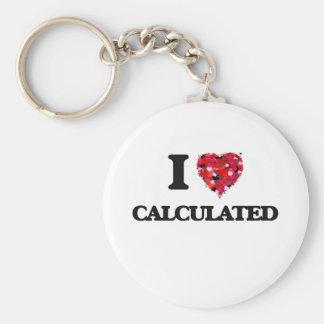 Eu amo calculado chaveiro