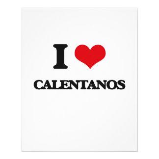 Eu amo CALENTANOS Panfleto