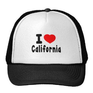 Eu amo Califórnia Boné