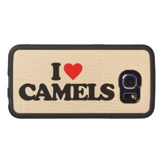 EU AMO CAMELOS CAPA DE MADEIRA PARA TELEFONE
