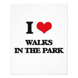 Eu amo caminhadas no parque flyer 11.43 x 14.22cm