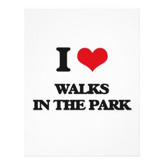 Eu amo caminhadas no parque flyer 21.59 x 27.94cm