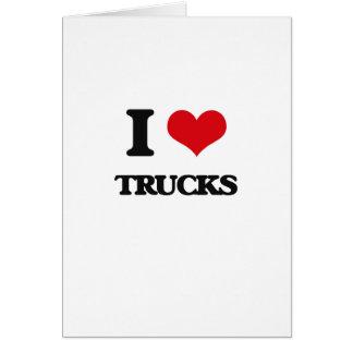 Eu amo caminhões cartao