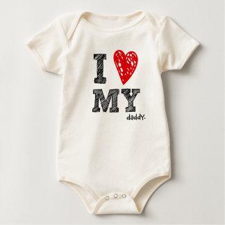 """""""Eu amo camisa customizável do bebê do meu _"""""""
