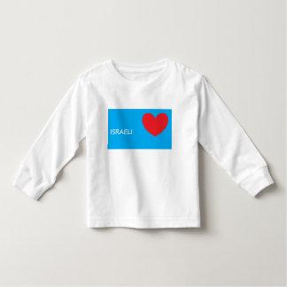 """""""Eu amo camisa da criança da Longo-Luva de Israel"""""""