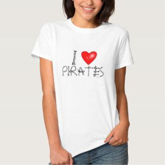 Eu amo camisetas engraçadas do humor dos piratas