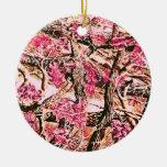 Eu amo Camo cor-de-rosa Enfeite De Natal