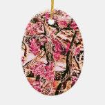 Eu amo Camo cor-de-rosa Enfeites De Natal