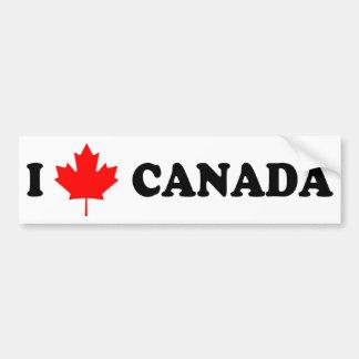 Eu amo Canadá Adesivos