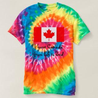Eu amo Canadá de Eh ao Zed - divertimento Camiseta