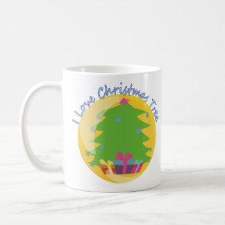 """""""Eu amo caneca da árvore de Natal"""""""